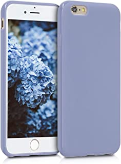 kwmobile TPU Silicone Case Compatible with Apple iPhone 6 / 6S - Soft Flexible Protective Phone Cover - Lavender Grey
