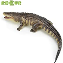RECUR American Alligator Toy , Crocodile Action Figures Plastic Model 22.8inch, Colossal Collectibles , Creative Gifts for Wildlife Animal Collectors & Boys Toys Kids Toy (American Alligator)