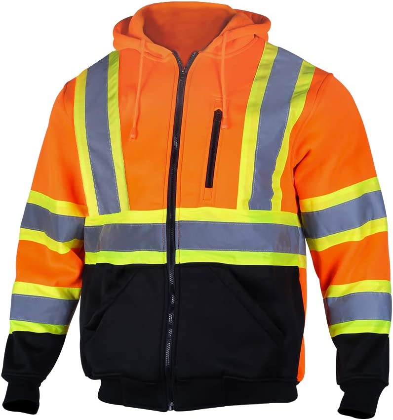 VENDACE Men's ANSI Class 3 Vis High Reflective Sweatshirt Safety Milwaukee Recommended Mall