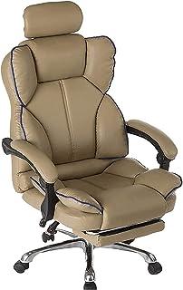 WYKDL ارتفاع كرسي المكتب المرتفع، مريح قابل للتعديل مقعد مع مسند القدمين، الكبير والجلد الجلود المستلم كرسي مكتب المهام