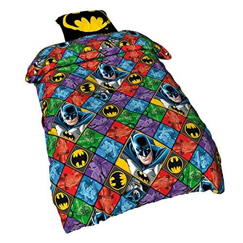 BATMAN Bed Linen DC Comics with All Over Print Elbenwald Cotton 135x200, 80x80 cm
