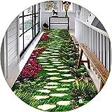 Tappeto Canale 3D Corridoio Balcone Soggiorno Camera da Letto Antiscivolo può Essere Tagliato CnCnCn (Color : A, Size : 50x240cm)