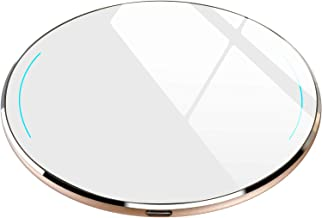 TOZO W1 Wireless Charger Ultra Thin Aviation Aluminum Fast Charging Pad - NO AC Adapter Gold