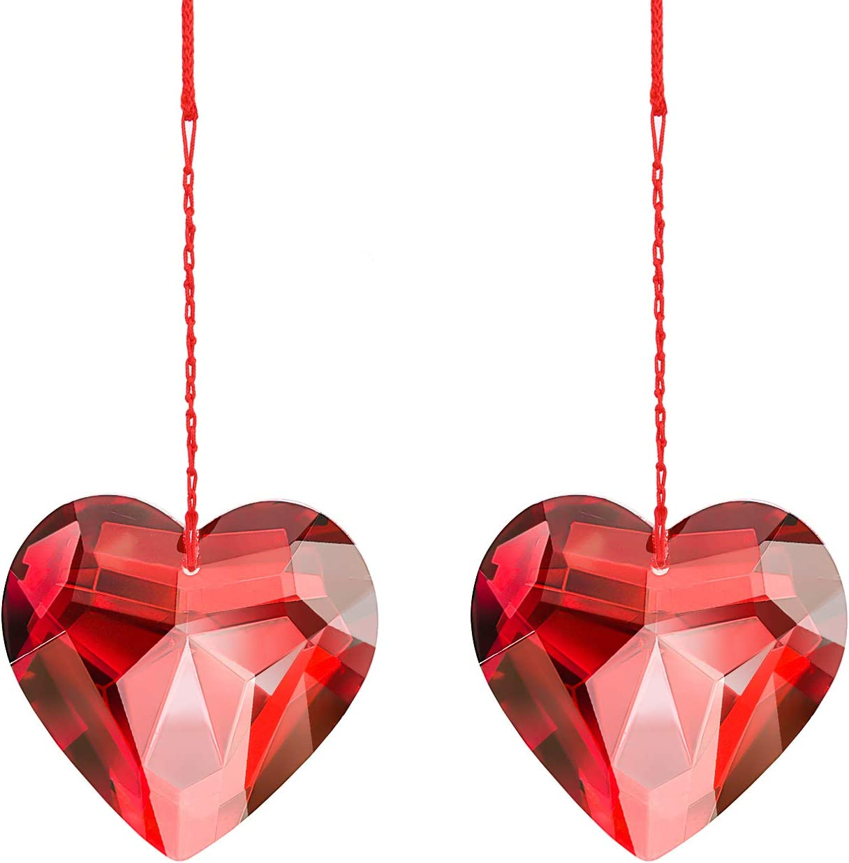 MerryNine 1 Pair Hanging K9 Prisms Suns Albuquerque Mall Pendants Crystal High quality Heart