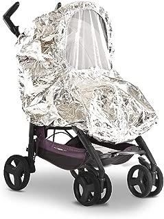 SilverCoat es una funda reflectante para todo tipo de climas para el cuerpo del cochecito de bebé, que reduce en la mitad el calor en su interior. También es una funda impermeable a prueba de polvo para cochecito de bebé a prueba de nieve.