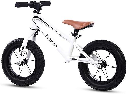 Draisiennes Velo sans pedale   Bike 4 Ans - Mini-vélo à Pousser Early Rider pour Enfant Fille Garçon, Pneu pneumatique de 12 Pouces, Blanc Noir (Couleur   Blanc)