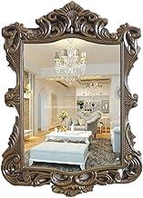 GRJ Household Items& Makeup Mirror Espelho de parede para sala de estar Antigo, Espelho de parede chanfrado HD Vanity Mirr...