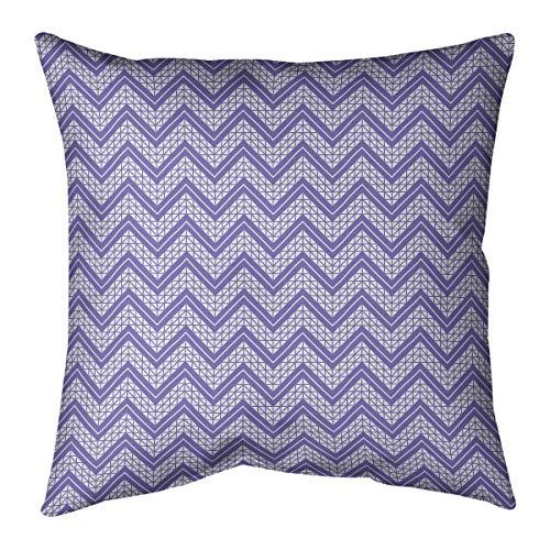 Buy Discount ArtVerse Rhonda Cheval Classic Hand Drawn Chevron Pattern Pillow (w/Removable Insert) -...
