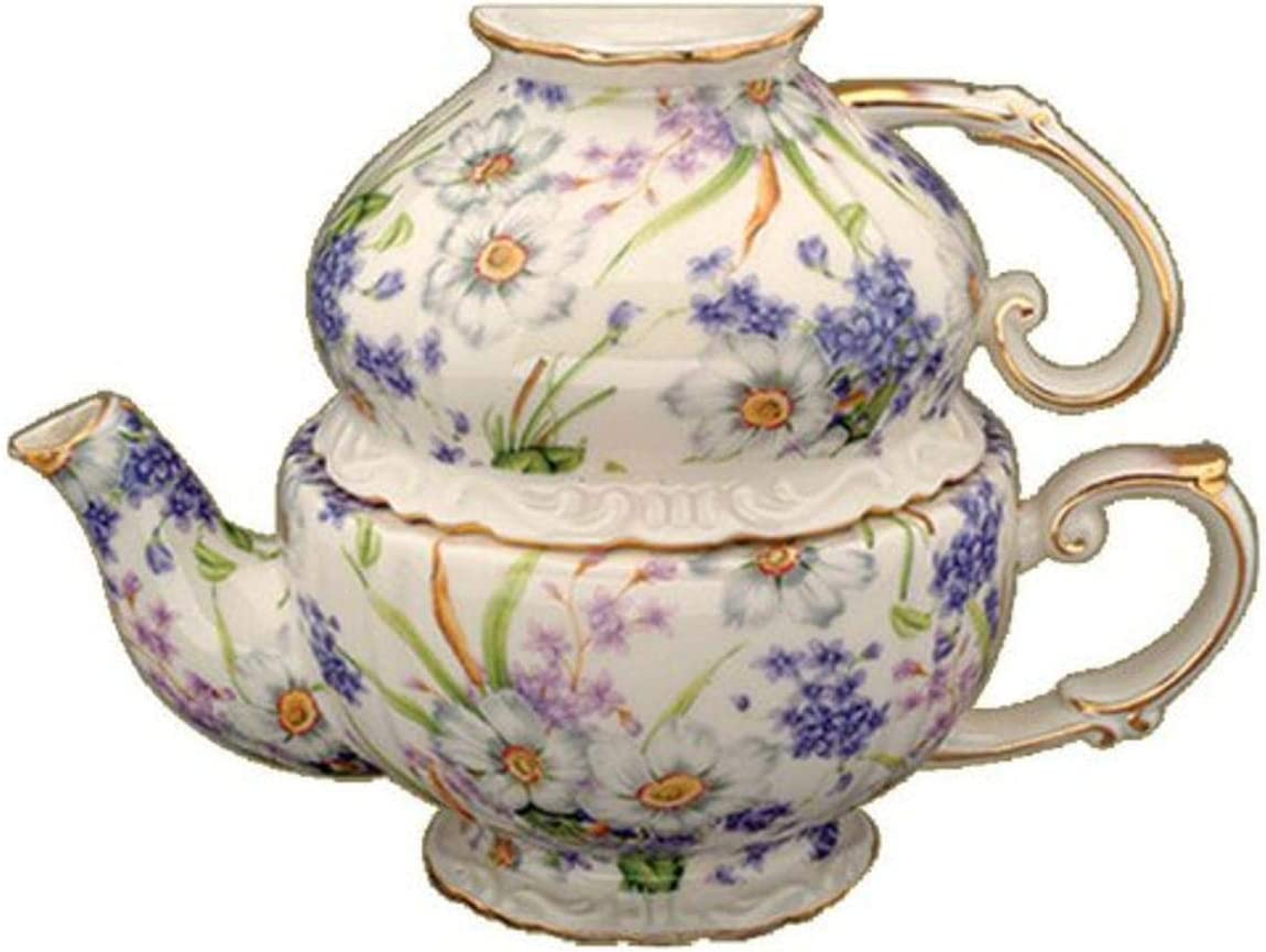 Gracie China by Coastline Imports for Set Oakland Mall 3-Piece Porcelain Very popular Tea