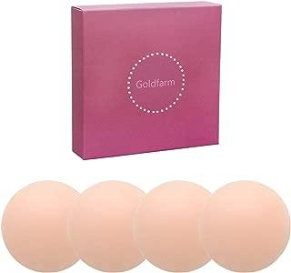Nippleless Covers, Pasties, Silicone Reusable Breast Pasties Adhesive Bra 2 Pairs Round