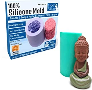 RETAIL SUPPLIES 3D Silicone Handmade Buddha Statue Candle Mould Baking Decorative Tools