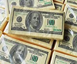 DocBrother 20 Count $100 One Hundred US Dollar Bill Napkin 1:1 Size Tissue Paper Prank Fun Birthday Party Novelty Gift Idea (20 Napkins in Total)