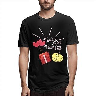 Jully Satt Tennis Love Heart Tennis Gift Men's Printing Sport Black Shirt Andy Roddick