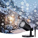 Christmas Snowflake Projector Lights Led Snowfall Show Outdoor Waterproof Landscape Decorative Lighting for Xmas Holiday Party Wedding Garden Patio