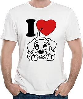 Duxa Men's I Love Dogs Symbol Tshirts