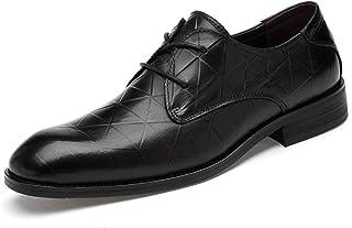 DADIJIER Oxfords Vestido Zapatos para Hombres Plaza Planeada Punto de Punto 2-Ojo Encaje Up Triángulo Patrón Bloque Tacón ...