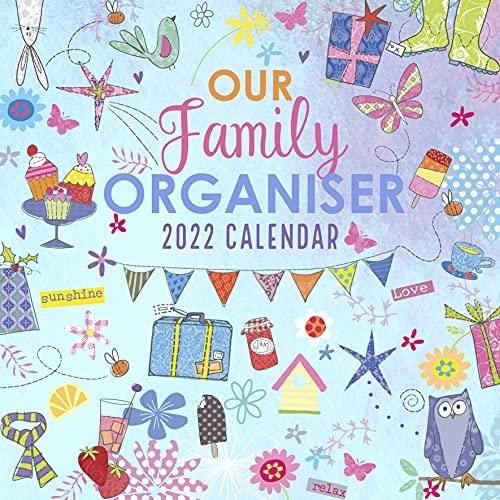 2022 Family Organiser 12 Month Wall Calendar. Monthly Weekly and Daily Schedule Planner, Meal Planner, Home Organiser with Five Columns