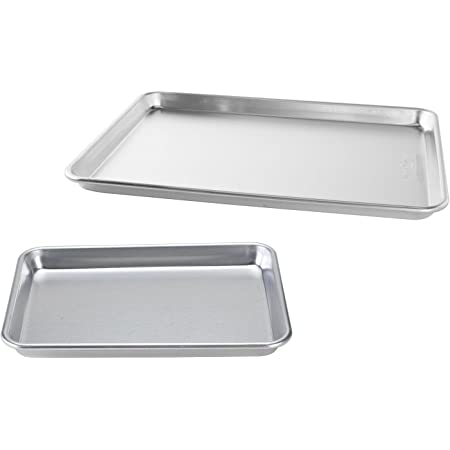 Nordic Ware Natural Aluminum Commercial Baker's Half Sheet and Baker's Quarter Sheet