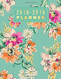 """2018-2019 Planner: Floral Weekly & Monthly Schedule Diary 