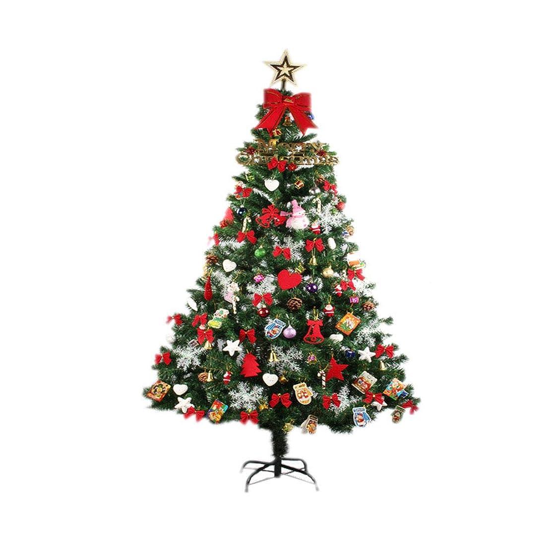ドアミラー範囲資本クリスマスツリー セット150cm ミックス色 LEDイルミネーションライト オーナメント15種付き