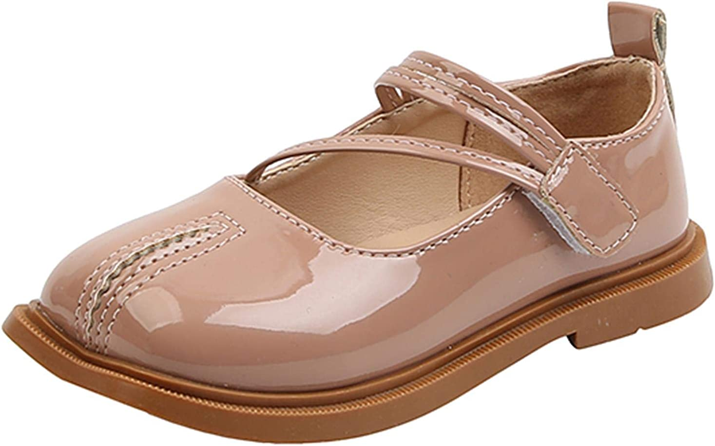 PPXID Toddler Little Girls Soft Sole Oxford Flats Princess Ankle Strap Mary Janes