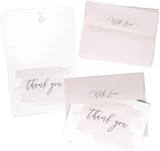 48 Blank Thank You Cards, for Bridal, Wedding and Baby Shower with Matching Envelopes by Well Krafty