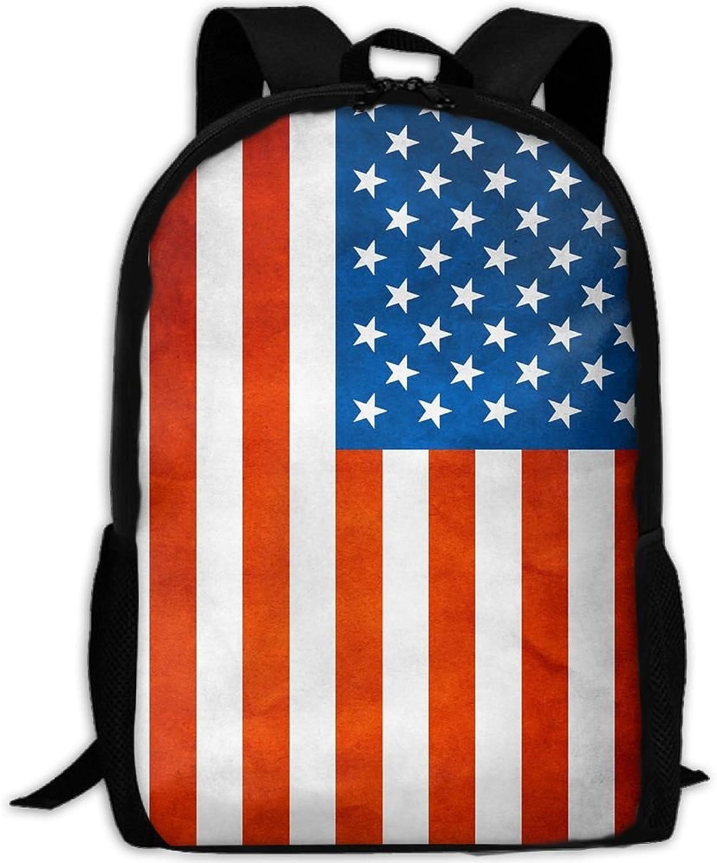 Adult Backpack US Flag College Daypack Oxford Bag Unisex Business Travel Sports Bag With Adjustable Strap