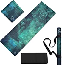 June & Juniper Travel Yoga Mat Foldable Lightweight - Thin Light Non-Slip Travel Yoga Mat Eco