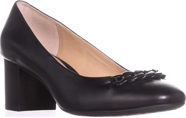 Lauren Ralph Lauren Womens Jacksen Leather Evening Block Heels