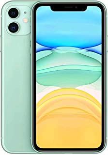 ابل ايفون 11 مع فيس تايم بشريحتي اتصال - 128 جيجا، 4 جيجا رام، الجيل الرابع ال تي اي، اخضر