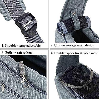 Maxmer Pet Sling Carrier, Dog Sling Bag Shoulder Carry Tote Handbag Dog Travel Carrier Bag for Cat Puppy Kitty Rabbit Bunny 2