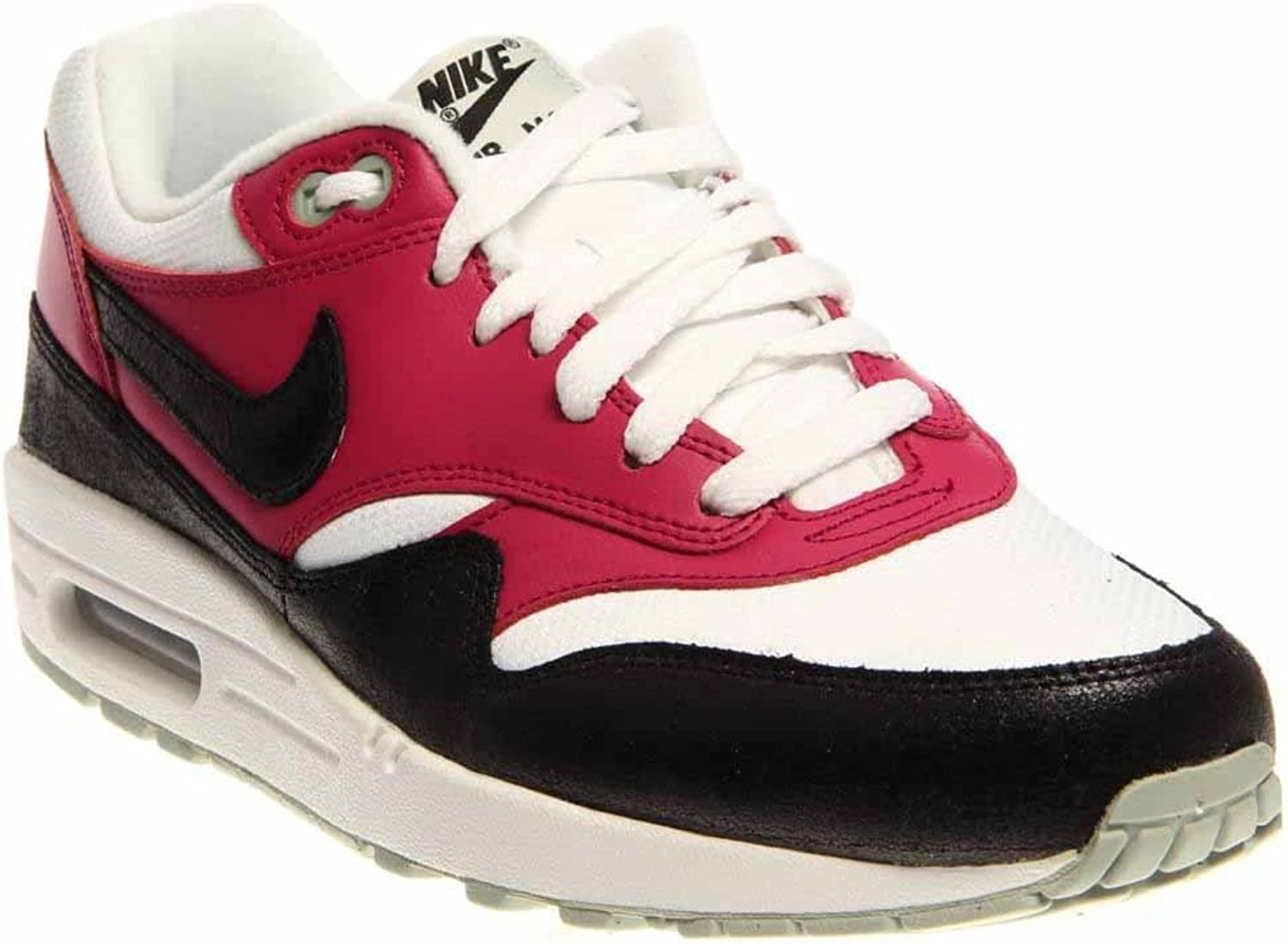 Nike Women's Wmns Air Max 1 Essential, WHITE BLACK-BRIGHT MAGENTA-S SPRY