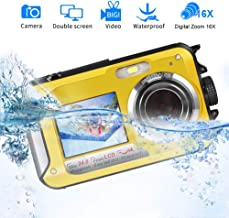 Waterproof Camera Underwater Camera for Snorkeling Full HD 1080P 24.0 MP Waterproof Point and Shoot Digital Camera Dual Screen Action Camera