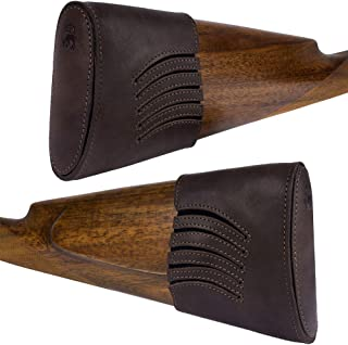 BRONZEDOG Waterproof Genuine Leather Recoil Pad Extendable Stock Shotguns Rifles Slip On Buttstock Cover Hunting Accessories