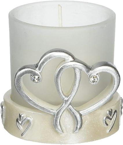 Interlocking Silber Herz Design Kerzenleuchter silber