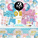 Smirly Gender Reveal Decorations Set - Baby Gender Reveal Party Supplies, Gender Reveal Party Decorations, Baby Gender Reveal Ideas, Gender Reveal Balloons Boy or Girl Gender Reveal Party Supplies Kit