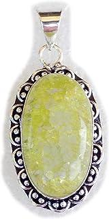 Green Bubble Quartz Pendant, Silver Plated Brass Pendant, Handmade Pendant, Gift Jewelry, Women Jewellry, Fashion Jewellry...
