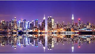 ArtzFolio Panorama of Midtown New York City Canvas Painting | MDF Wood Mounting Frame 21.3inch x 12inch (54.2cms x 30.5cms)