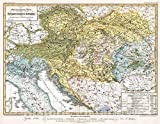 Historic Map : Austria; Italy, 1846 Ethnographische Karte der Osterreichischen Monarchie, Vintage Wall Art : 44in x 34in