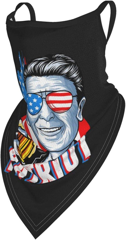 Bandana Neck Gaiter Face Mask Ronald-Reagan Balaclava Dust Cover Mask for Men and Women