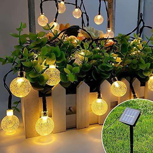 Guirnaldas Luces Exterior Solar, Luces Led Solares para Exteriores 7.5M 50 LED con 8 Luz Mode, Impermeable, Luces Exterior Jardin para Terraza,Arboles,Eésped,Bodas,Fiesta,Navidad