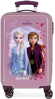 Disney Frozen La Reine des Neiges Nature is magical Valise Trolley Cabine Pourpre 37x55x20 cms Rigide ABS Serrure à combin...