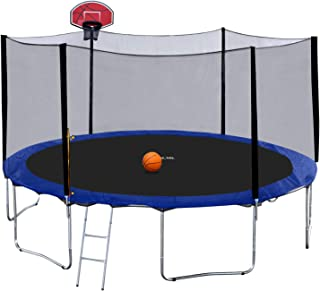 12ft trampoline with basketball hoop