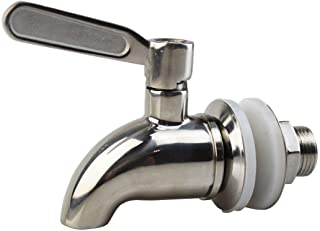 Palais Glassware Stainless Steel Beverage Dispenser Replacement Spigot Kit, Polished Finish