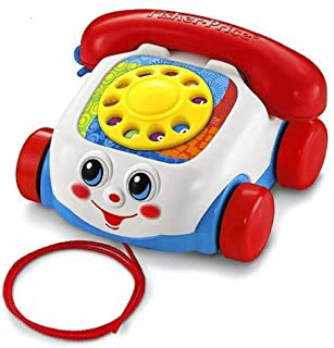 Laugh and Learn Electronic Speaking Kids Role Play Toy Phone Fisher-Price 746775335052 Smart Phone Suitable for 6 Months Plus with  Basics Batteries