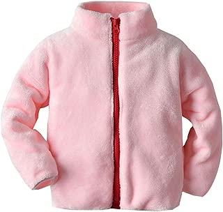 Mousmile Toddler Baby Boys Girls Flannel Sweatshirt Winter Warm Band Collar Jacket Coat Casual Fleece Outwear