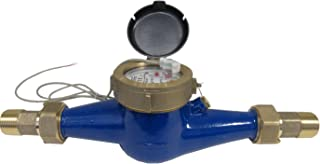 PRM 2 Inch NPT Brass Multi-Jet Water Meter with Pulse Output, Not for Potable Water