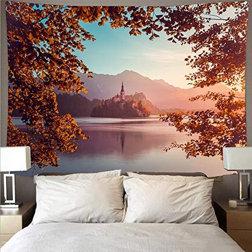 KHKJ Tapiz de Pared de Arte Tapiz Paisaje Paisaje Grifo Fondo Tela Tela Colgante decoración del hogar A9 200x150 cm