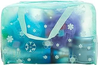 Travel Transparent Zipper Makeup Cosmetic Toiletry Storage Wash Bag Organizer - Green yingyue