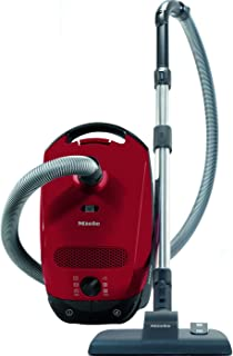 Miele Bagged Vacuum Cleaner Classic C1 Captures 99.9% of Dust, Mango Red, 2 Year Warranty, SBAF3